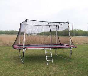 Texas Competitor 17 X 9 Rectangle Trampoline With Enclosure