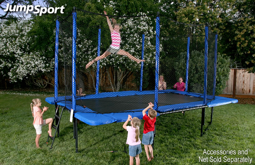 Jumpsport 10 X 17 Rectangle Trampoline With Enclosure